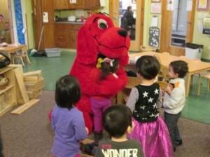 Clifford gave hugs