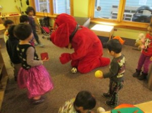 Clifford played ball with Garden Preschool