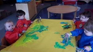 Key Developmental Indicators Exploring art materials.